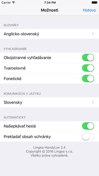 Lingea Anglicko-slovenský vreckový slovník screenshot-4