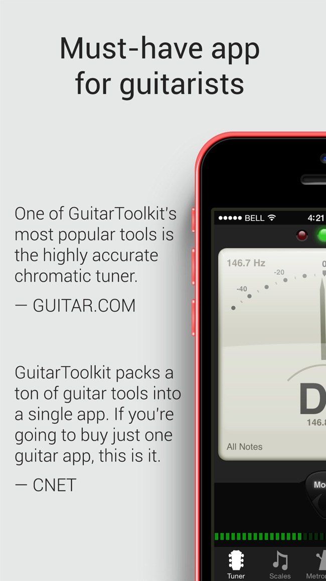 GuitarToolkit - tuner, metronome, chords & scales Screenshot
