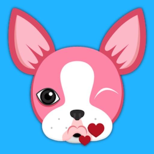 Animated VDay Boston Terrier