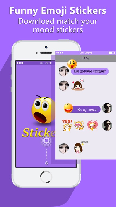 Funny Emoji Stickers FREE - Animated Emoticon & Keyboard