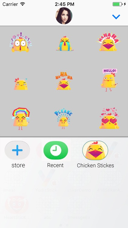 Chicken Emoji Animated Sticker screenshot-3