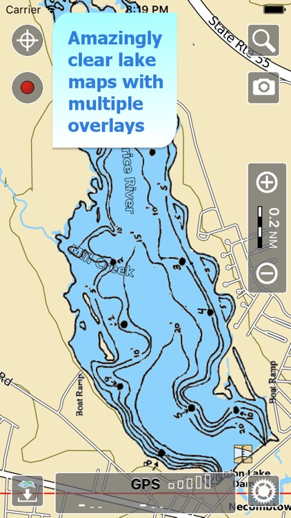 Aqua Map Delaware Lakes GPS HD