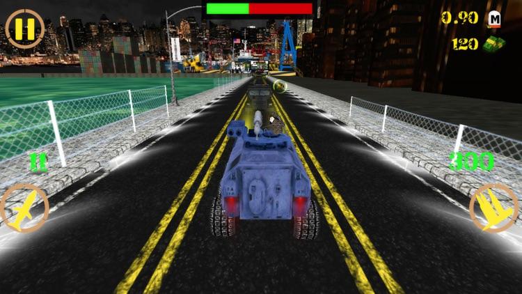 Crazy Tank Death Race 3D : Road Riot Combat Racing screenshot-3