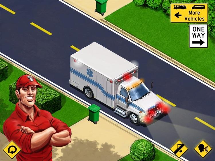 Kids Vehicles: City Trucks & Buses HD Lite screenshot-0