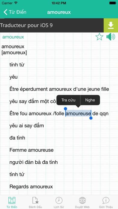 FVEDict - Từ Điển Pháp Việt screenshot two