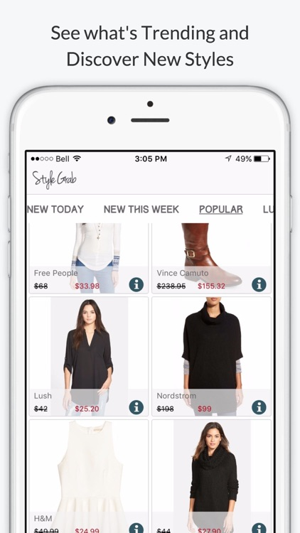 StyleGrab - Shop Style Deals from your Favorite Fashion Designers and Stores