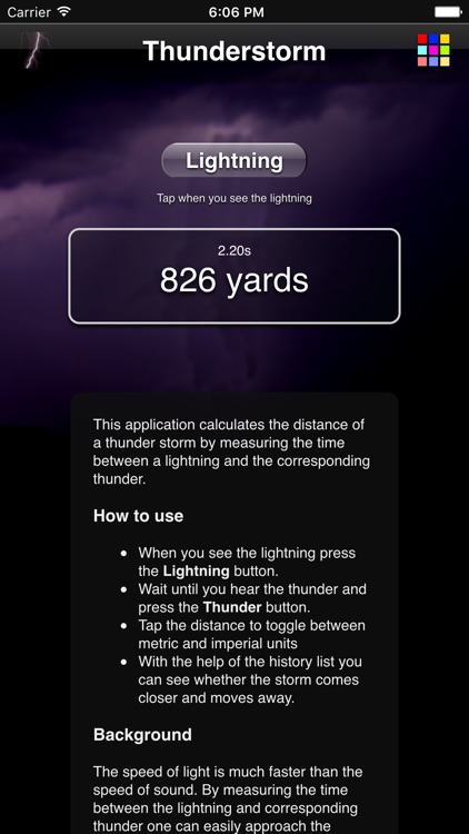Thunderstorm Calculator screenshot-0