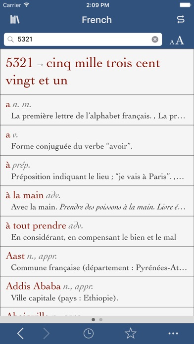 French Dictionary and Thesaurus with Verbs screenshot three
