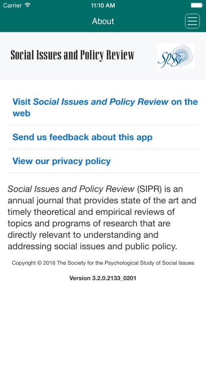 Social Issues and Policy Review screenshot-3