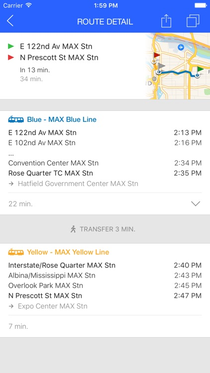 ezRide Portland TriMet - Transit Directions for Bus, Train and Light Rail including Offline Planner screenshot-3