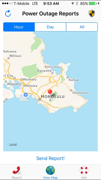 Hawaii Power Outage by Tapiki, LLC. on power outage map, lbwl outage map, steam outage map, electric outage map,