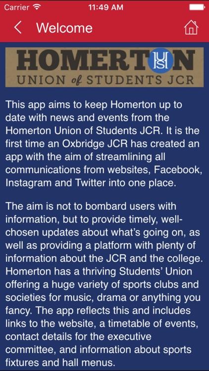 Homerton Union of Students JCR by AppTree Ltd