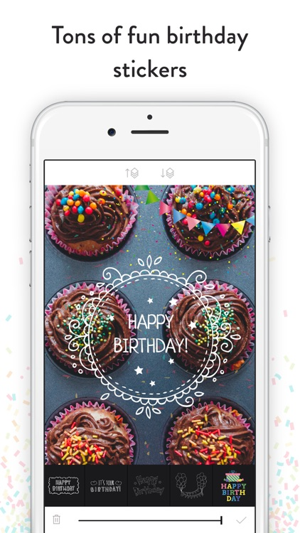 Birthday Stickers - Frames, Balloons and Party Decor Photo Overlays