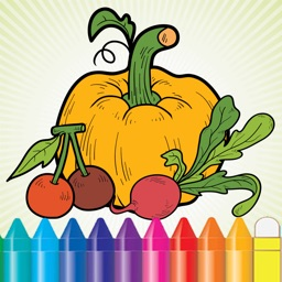 Vegetable & Fruit Coloring Book - Drawing Connect dots kids