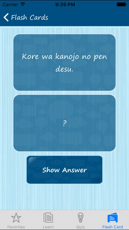 Learn Japanese Quickly - Phrases, Quiz, Flash Card