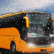 冬季城市越野山巴士驾驶模拟器3D