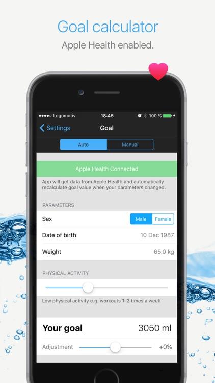 Watercheck – smart water balance tracker!