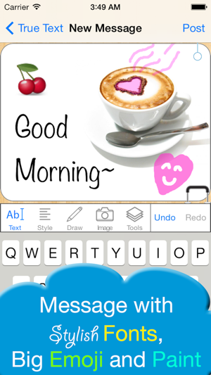 Truetext free animated gifvideo creator for iphoneipad on the truetext free animated gifvideo creator for iphoneipad on the app store negle Images