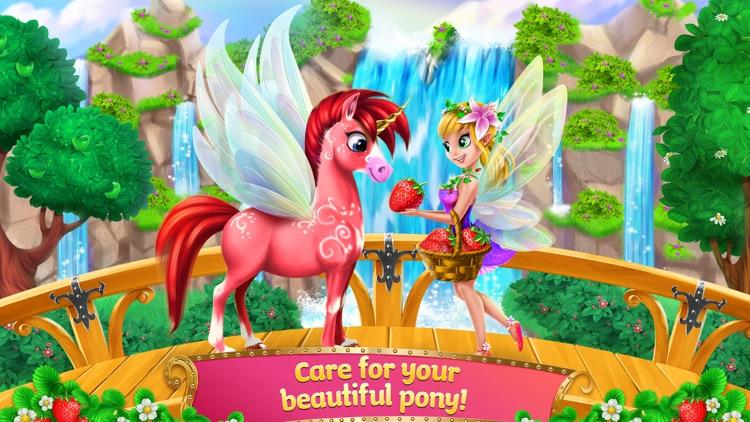 Princess Fairy Rush - Pony Rainbow Adventure screenshot-3