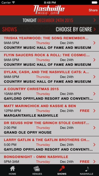 Nashville Live Music Guide screenshot-3