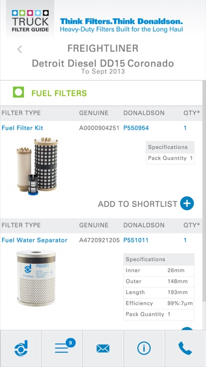 Donaldson Truck Filter Guide