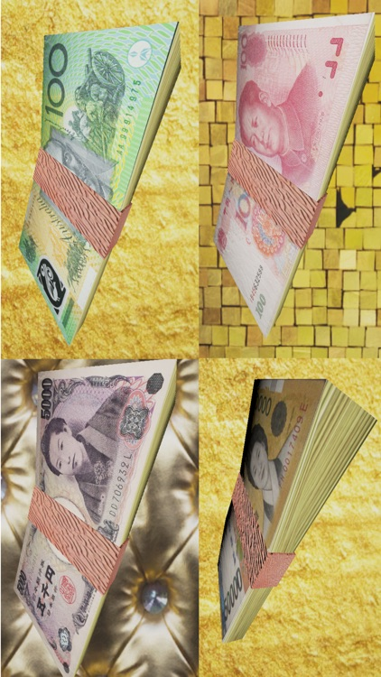 Be Rich - Banknotes Rain in 3D