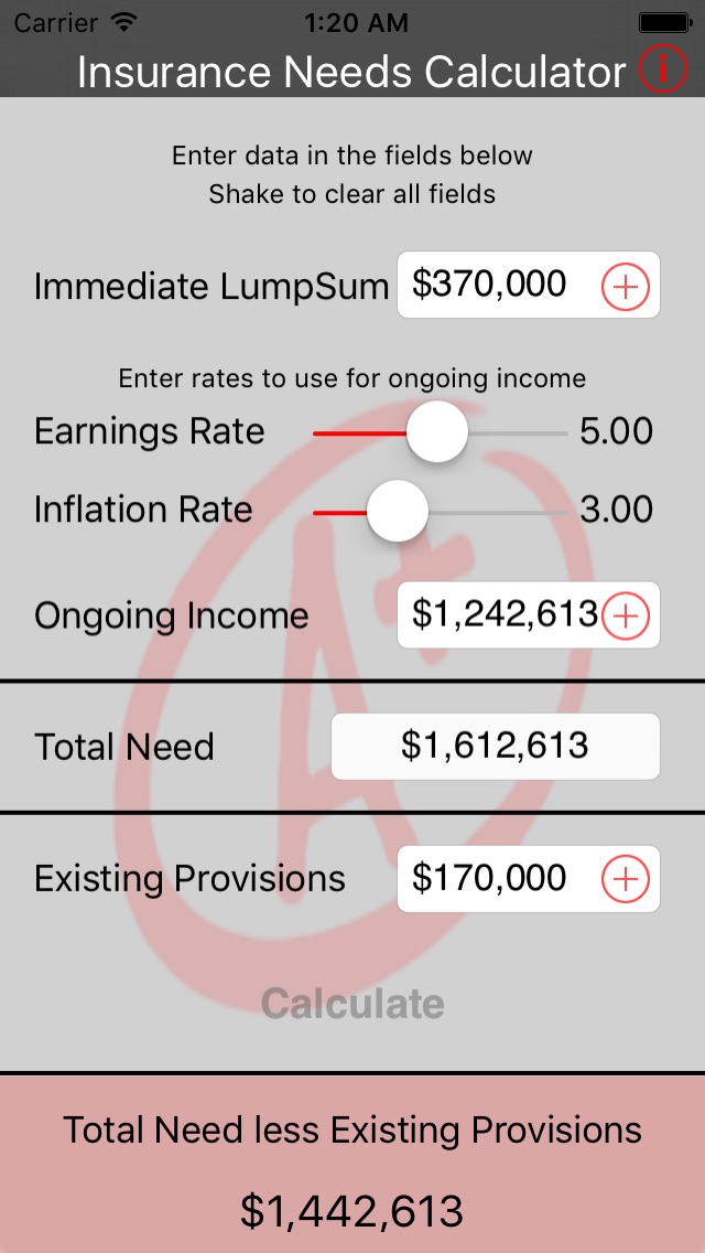 Insurance Needs Calculator-0