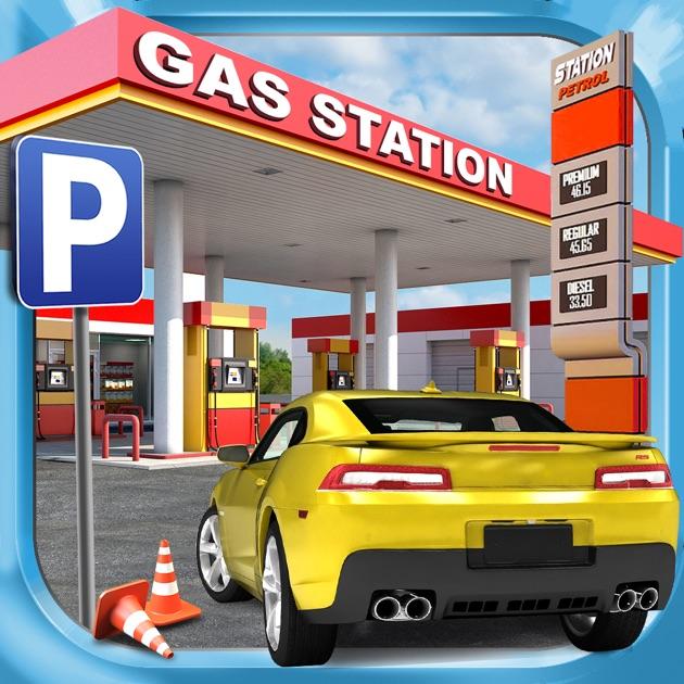 Car Games: Gas Station Car Parking Simulator A Real Road Racing Park