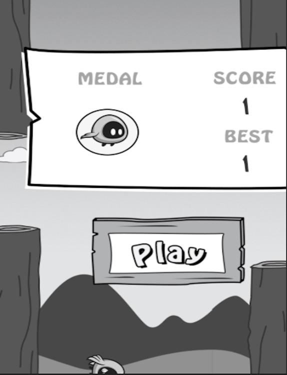Flappy Dark Bird for iPad screenshot-3