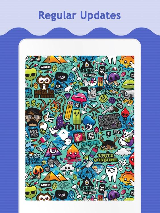 Doodle Wallpapers & Backgrounds for iPad screenshot-4