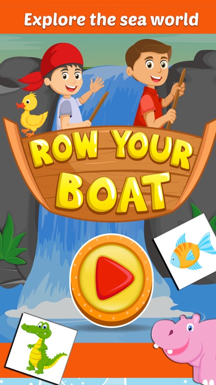 Row Your Boat- Sing along Nursery Rhyme Activity for Little Kids screenshot-4