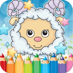 Farm Animals Drawing Coloring Book - Cute Caricature Art Ideas pages for kids