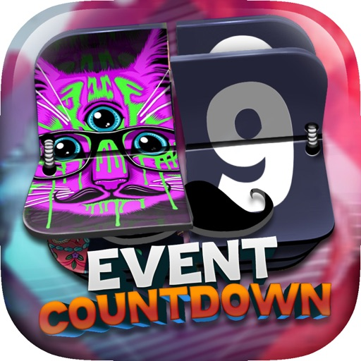 "Event Countdown Fashion Wallpaper  - "" Hipster Style "" Pro"