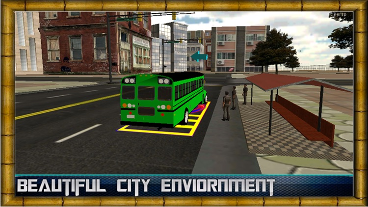 City Bus Driving Simulator 2016 - Real passengers pick & drop driver traffic parking Sim screenshot-4