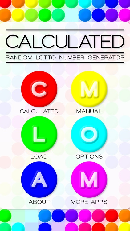 Calculated - Lotto Number Generator
