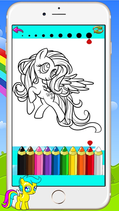 pony coloring books kids games drawing painting little unicorn for