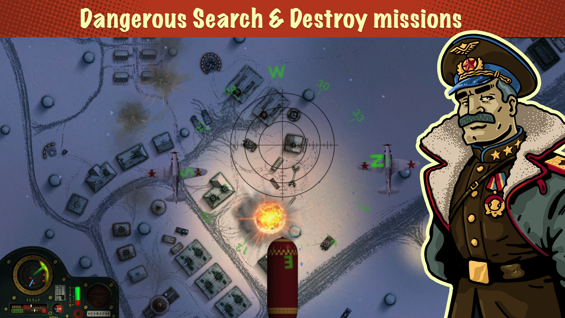 iBomber Winter Warfare screenshot 13