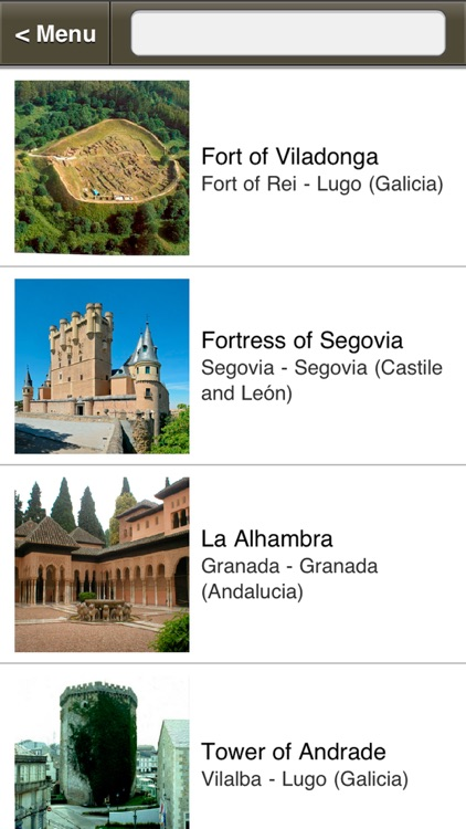 Visual Guide of Castles