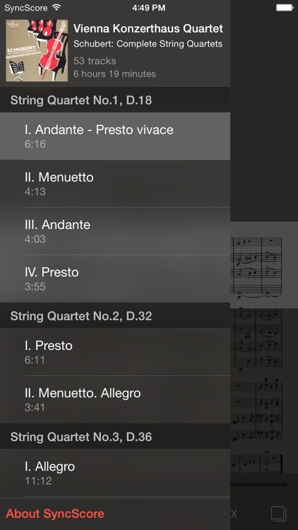 Schubert String Quartets screenshot-2