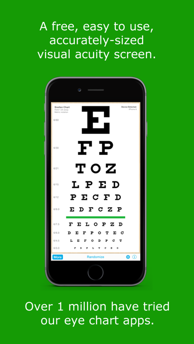 EyeChart - Vision Screening screenshot one