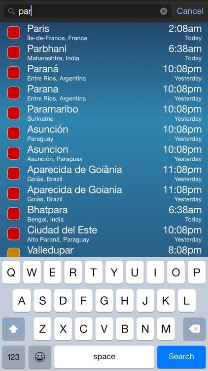 TimeScroller - Time Zone Utility screenshot-3