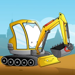 Big machines and trucks puzzles for young boys