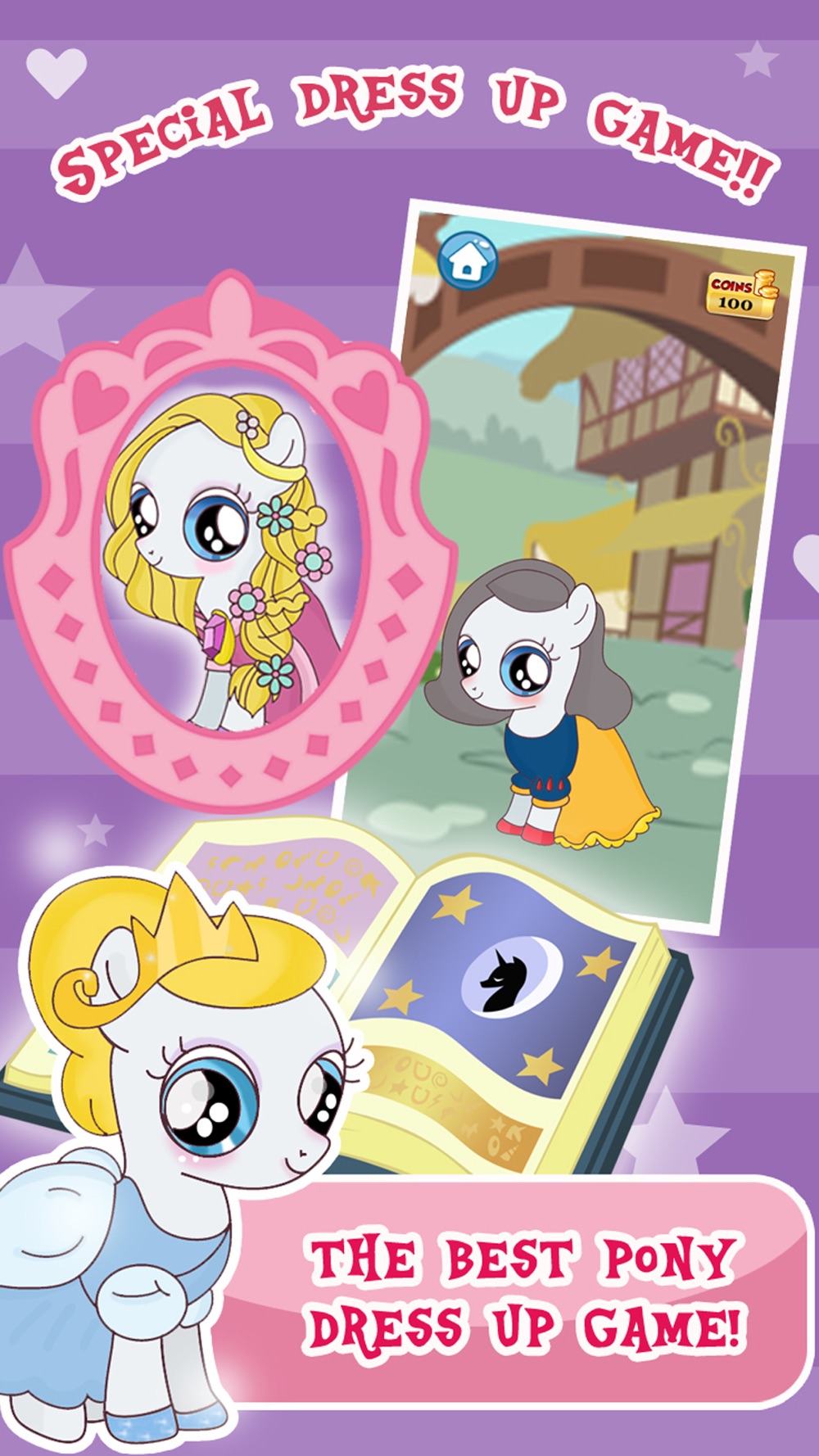 """""""Princess Pony Dress Up For Equestria Girls"""" : My Little Pets Friendship Rock salon and Make-Up Ever Game Cheat Codes"""