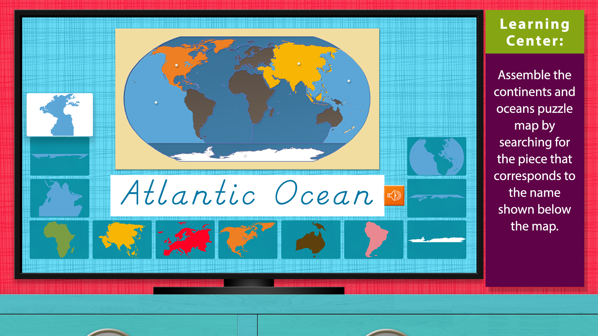 World Continents and Oceans - Geography by Mobile Montessori screenshot 4