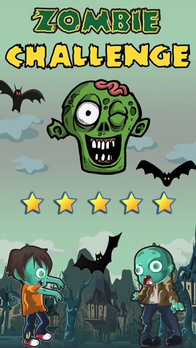 Zombie Challenge Run Game with Zombies: Fun for Early Grades and Kindergarten Kids screenshot one