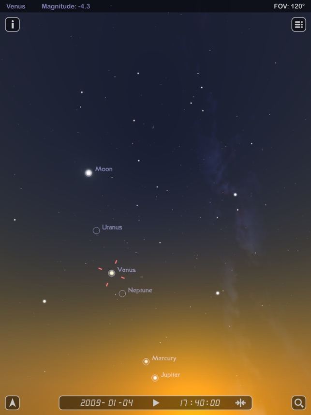 Star Rover HD - Stargazing and Night Sky Watching Screenshot