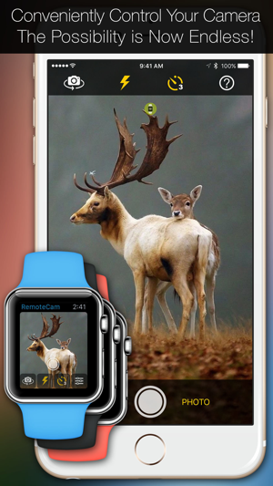RemoteCam: Live Preview & Full Camera Photo Video Remote Control From Your Watch Screenshot