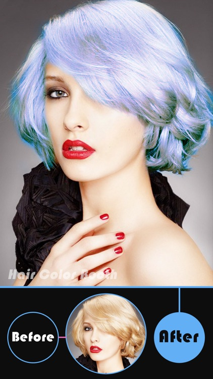 Hair Color Booth Pro - Change Hair Styles to Blonde, Brunette, Brown, Ginger or Any Color screenshot-1