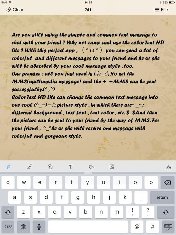 Color Text HD Lite screenshot-4