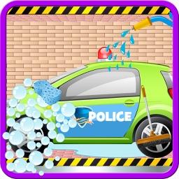 Police Car Wash Salon Cleaning & Washing Simulator